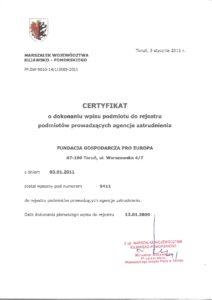 wpis do rejestru podmiotów prowadzących agencje zatrudnienia